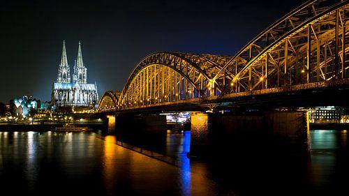 De Dom en de Hohenzollernbrücke in Keulen