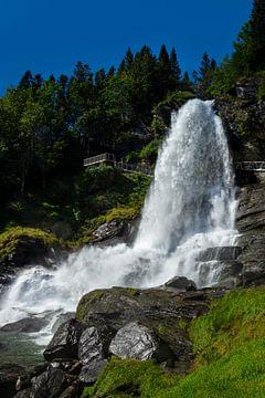 Steindalsfossen Waterval, Noorwegen van Adelheid Smitt