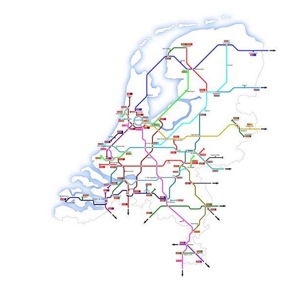 Snelwegen in Nederland van Jan Brons