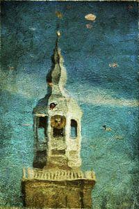 Reflectie kerk sur Kunst van Karin
