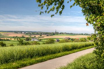 Panorama Piethaan en Vijlen in Zuid-Limburg van