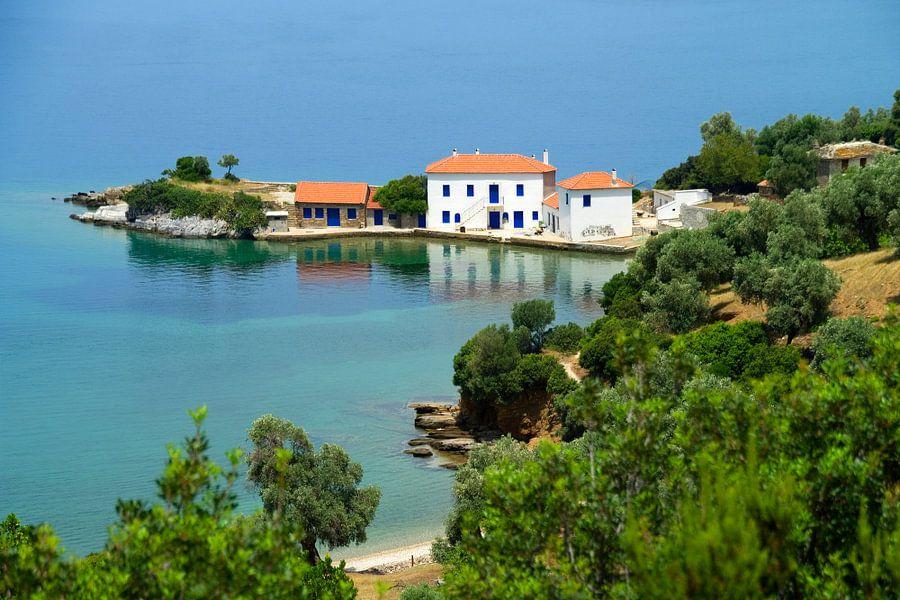 Mooie Griekse baai van Miranda van Hulst