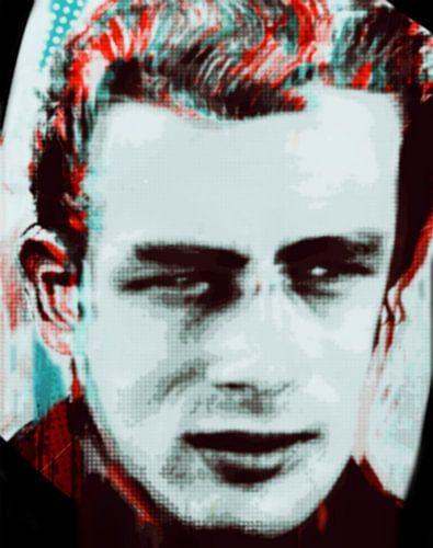 James Dean Urban Portrait  van Felix von Altersheim