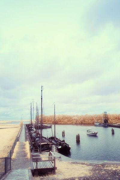 Haven met boten aan de aanlegsteiger van Gea Veenstra