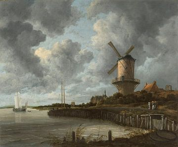 Die Mühle von Wijk bij Duurstede - Jacob van Ruisdael von