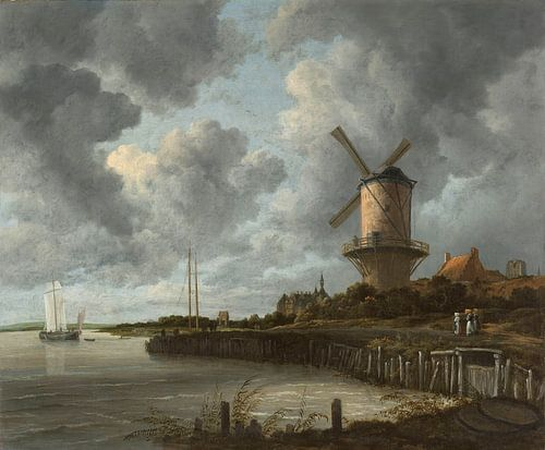 De molen bij Wijk bij Duurstede, Jacob Isaacksz. van Ruisdael von Meesterlijcke Meesters