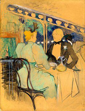 modische Menschen bei Les Ambassadeurs, Henri de Toulouse - Lautrec