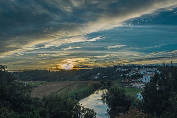 Portuguese Sunset van Bas Koster