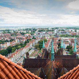 Uitzicht vanuit de Mariakerk, Gdansk van Ellis Peeters