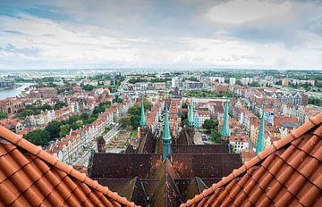 Vue du Mariakerk sur Gdansk sur Ellis Peeters