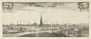 Gezicht op Amersfoort, Steven van Lamsweerde, naar Herman Saftleven, 1631 - 1665