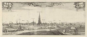 Ansicht von Amersfoort, Steven van Lamsweerde, nach Herman Saftleven, 1631 - 1665