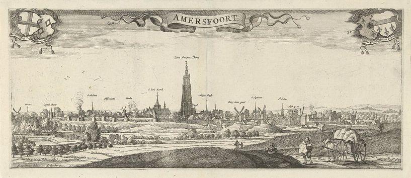 Gezicht op Amersfoort, Steven van Lamsweerde, naar Herman Saftleven, 1631 - 1665 van Marieke de Koning