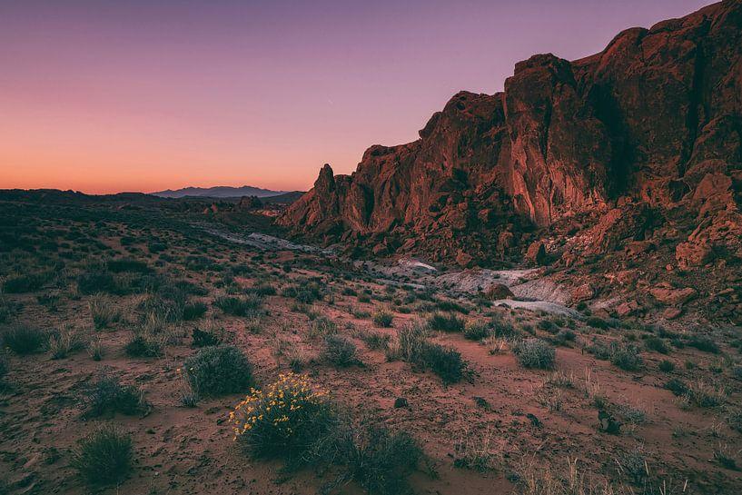 Vurige hemel in Fire Valley van Joris Pannemans - Loris Photography