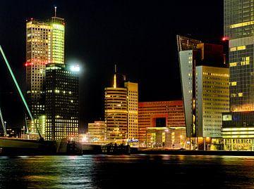 Skyline Kop van Zuid, Rotterdam. van George Ino