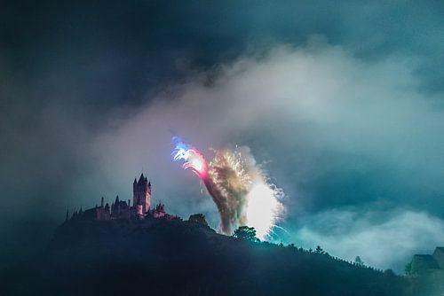 Vuurwerk in Cochem von Studio  Milaan