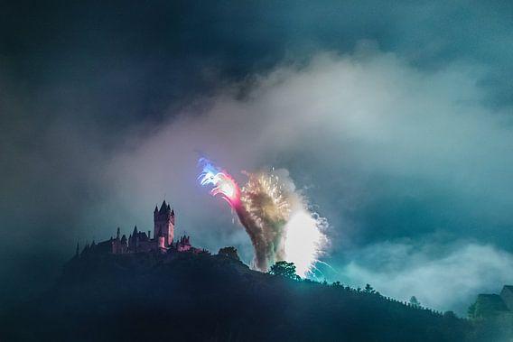 Vuurwerk in Cochem van Studio  Milaan