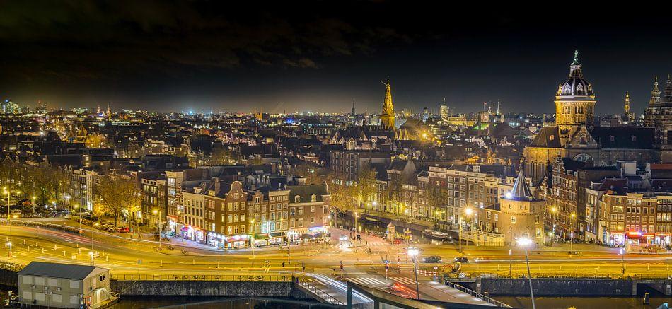 Skyline Amsterdam van Arjan Keers