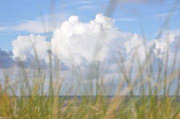 Wolken door het helmgras von Ton Wever