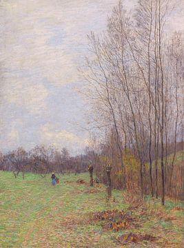 Waldrand im Vorfrühling (wohl bei Goppeln), PAUL BAUM, Um 1895