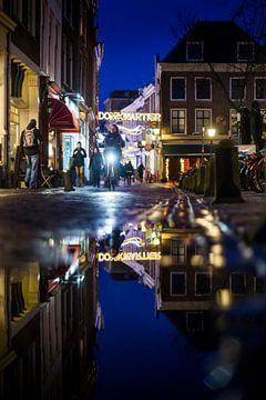 Utrecht Domkwartier door de plas van Jeffrey Schaefer
