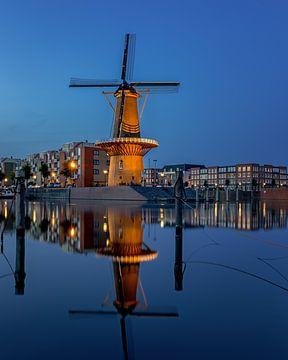 Moulin à vent Destilleerketel à Delfshaven sur Annette Roijaards