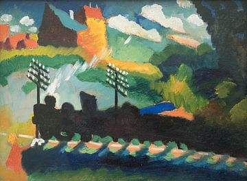 Chemin de fer à Murnau, Wassily Kandinsky sur