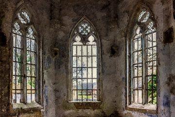 Het raamwerk van een kerk van Digitale Schilderijen