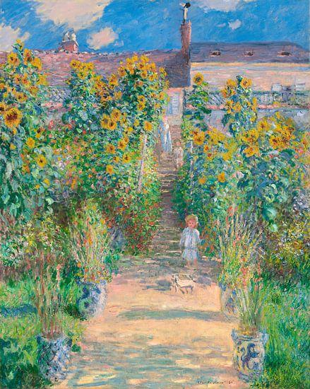 The Artist's Garden at Vétheuil, Claude Monet