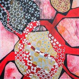 Mouvement Connexion 2- peinture abstraite sur Ariadna de Raadt-Goldberg