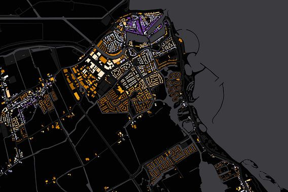 Kaart van Medemblik abstract