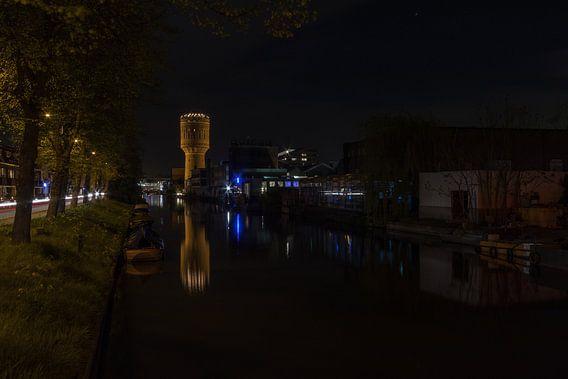 Watertoren in de Nacht - Utrecht, Nederland