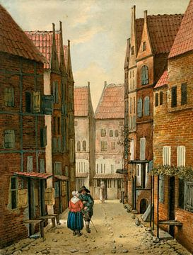 Straße in Delft, Albertus Brondgeest