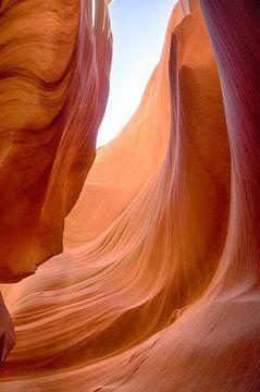 Antelope canyon doorzicht van Yannick uit den Boogaard