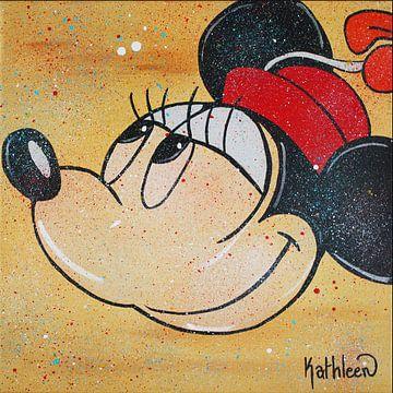 Minnie Mouse Smile van Kathleen Artist Fine Art