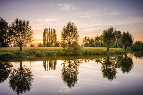 Zonsondergang reflectie van