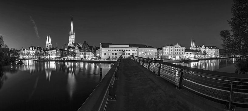 Lübeck Skyline Panorama van Frank Herrmann