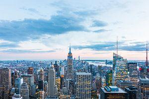 Uitzicht op Manhattan in de Schemering