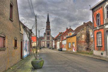 Kerk in Doel van Mark Koster