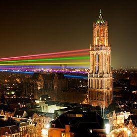 Sol Lumen - Laserkunstwerk van Uithof naar Domtoren in Utrecht sur Chris Heijmans