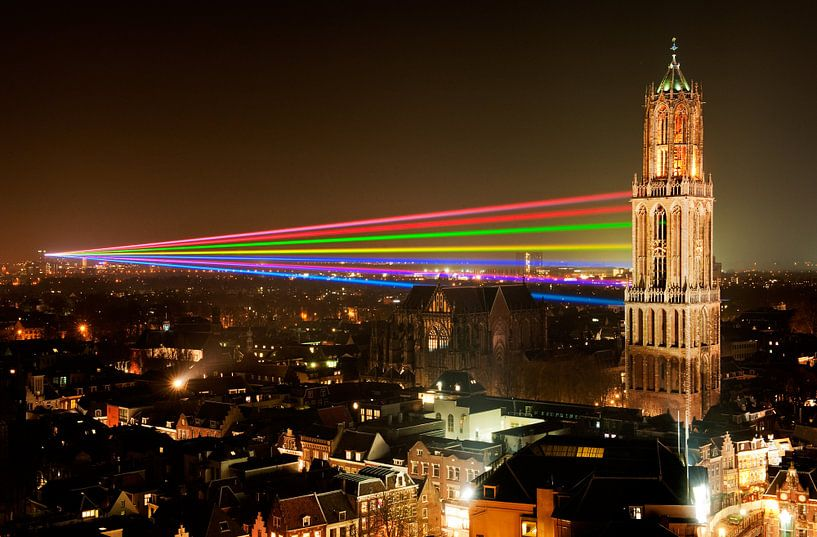 Sol Lumen - Laser Kunstwerk von Uithof zum Dom Tower in Utrecht sur Chris Heijmans
