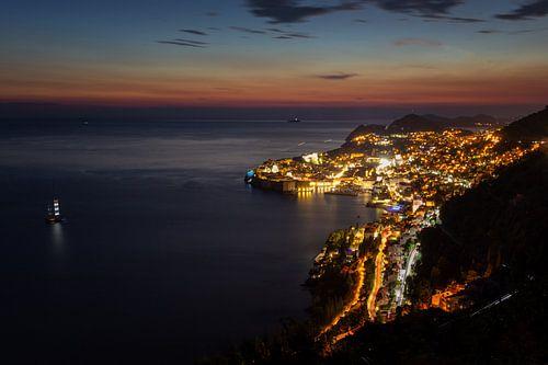 Dubrovnik bij valavond van Steve Mestdagh