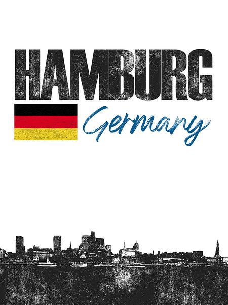 Hamburg Duitsland van Printed Artings