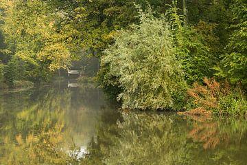 Spiegeling in het water van de Kromme Rijn van Marijke van Eijkeren