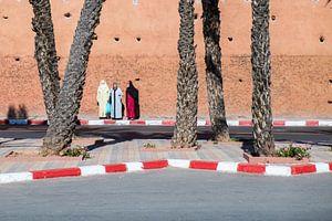 Drie vrouwen in Marrakech