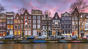 Stadsgezicht Brouwersgracht Amsterdam van Rudmer Zwerver