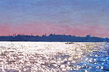 Vue d'Istanbul depuis le Bosphore sur Natasja Tollenaar