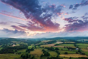 Landschap in de Morvan, Frankrijk von Stefan Wapstra