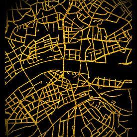 Frankfurt Deutschland City Map von Carina Buchspies