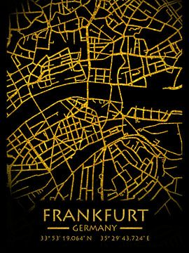 Frankfurt Duitsland Stadsplattegrond